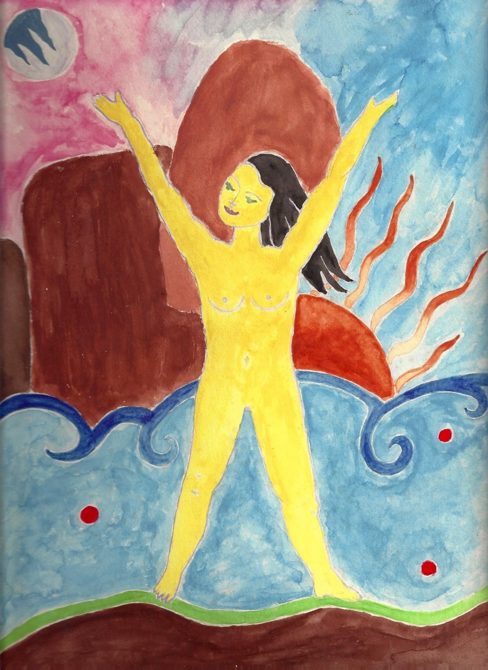 Roxanne Darling, Desert Sun Freedom, watercolor, 8x10