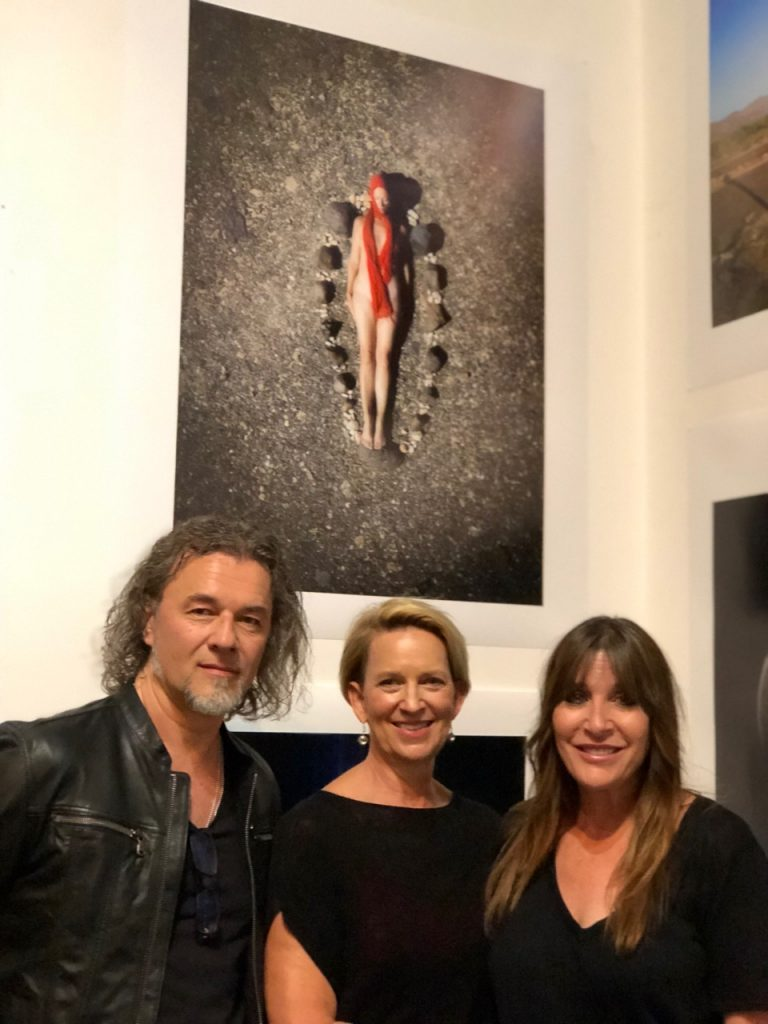 Roxanne and friends at the LCDA Electron Salon opening in Los Angeles
